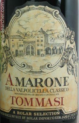Tommasi Amarone Della Valpolicella Classico 2004, Italy. I never had it, I just like the label.