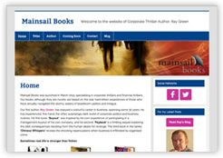 Website for Mainsail Books featuring authors Ray Green and Rose Edmunds: from our Cottagewebs Clients Directory.