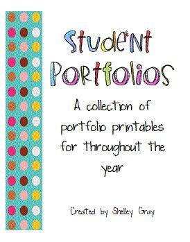 portfolio printables for throughout the year