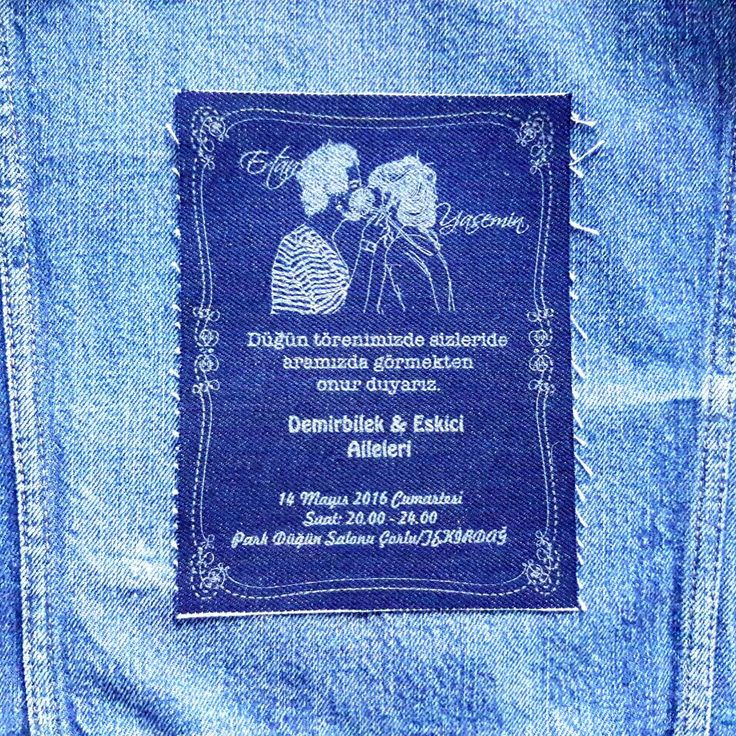 #Denim #Invitation #Wedding #Card #myInvitation #düğün #dernek #desing #turkey #2016 #fashion #vintage #rawdenim #retro #kot #davetiye