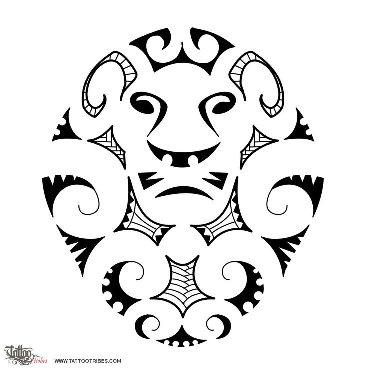 Tatuaggio di Leone stile Maori, Serie Maori: TERRA tattoo - custom tattoo designs on TattooTribes.com