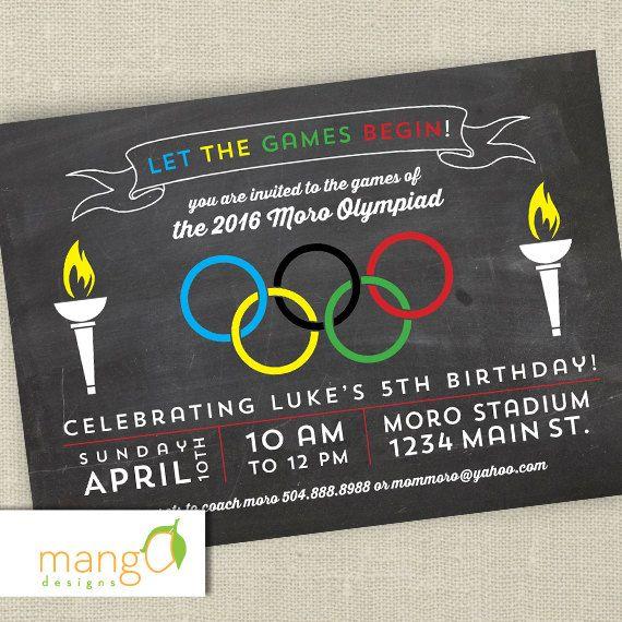 Gender Neutral Olympic Birthday Invitation Printable