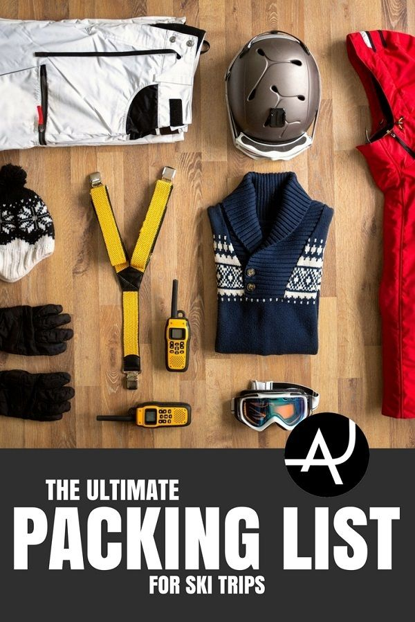Ski Trip Packing List - Best Ski Gear - Skiing Tips for Beginners - Skiing Clothes For Women, Men and Kids via @theadventurejunkies