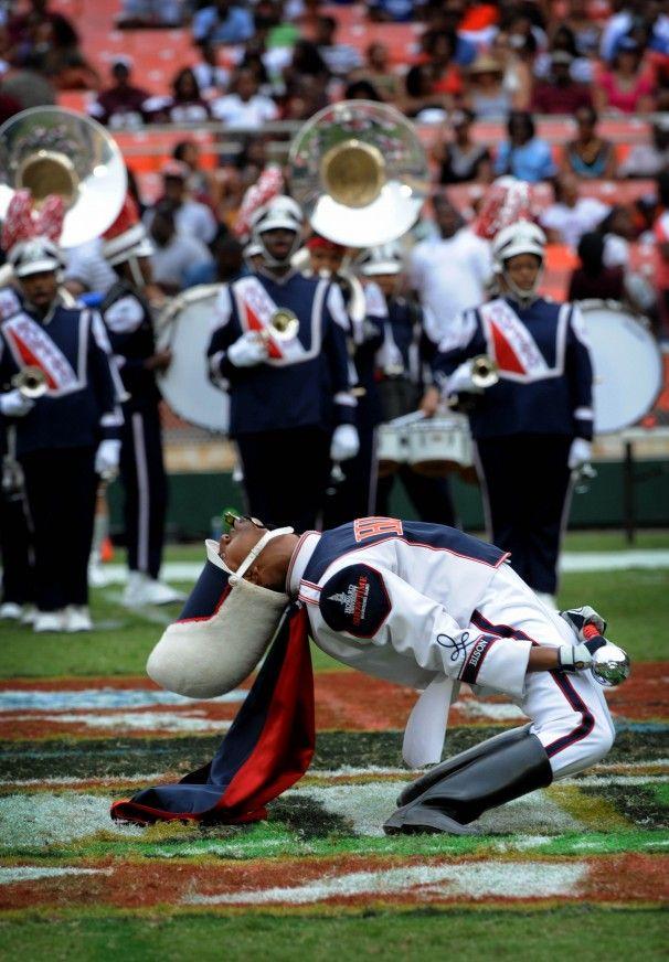 Howard University Marching Band   Drum major Andrew Clark of Howard University's Showtime Marching Band ...