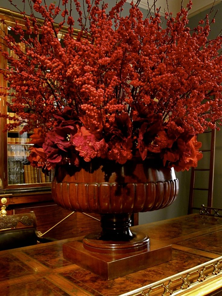 88 best flower arrangements fall images on pinterest floral arrangements flower - Fall arrangements for tables ...