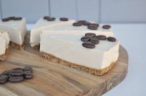 Koffie kwarktaart / no bake cheesecake with coffee #koffie #kwarktaart #cheesecake #nobakecheesecake #nobake #coffee