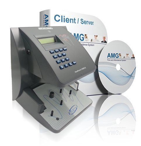 Ingersoll Rand-Schlage Biometric Hand Reader HP1000E w/50 Employee Software Package Time Masters AMG Software. HP1000E comes with Ethernet Connection. AMG Employee Attendance Software. 50 Active Employee License + 2 Admin. Users. Payroll Exports. Print or Email over 30 types of Report.