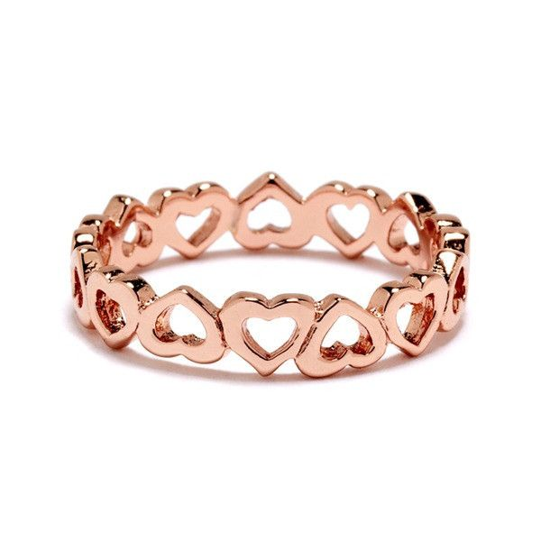 Eternity Heart Ring - love the rose gold