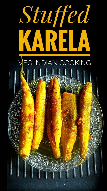 Stuffed Karela Recipe   Veg Indian Cooking . #karela #bittergourd #foodphotography #indianfood #indianrecipes #foodblogger #indianfoodblogger #delicious #healthy #yummlicious #recipe #indiancusine #stuffedkarela