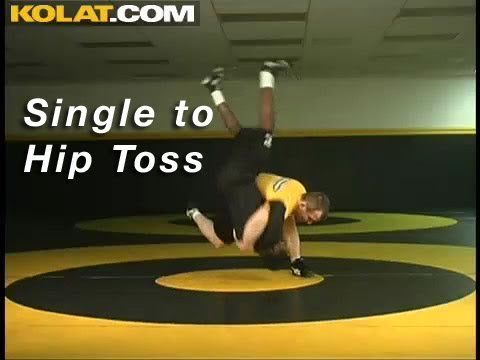 Single Leg to Hip Toss KOLAT.COM Wrestling Techniques Moves Instruction