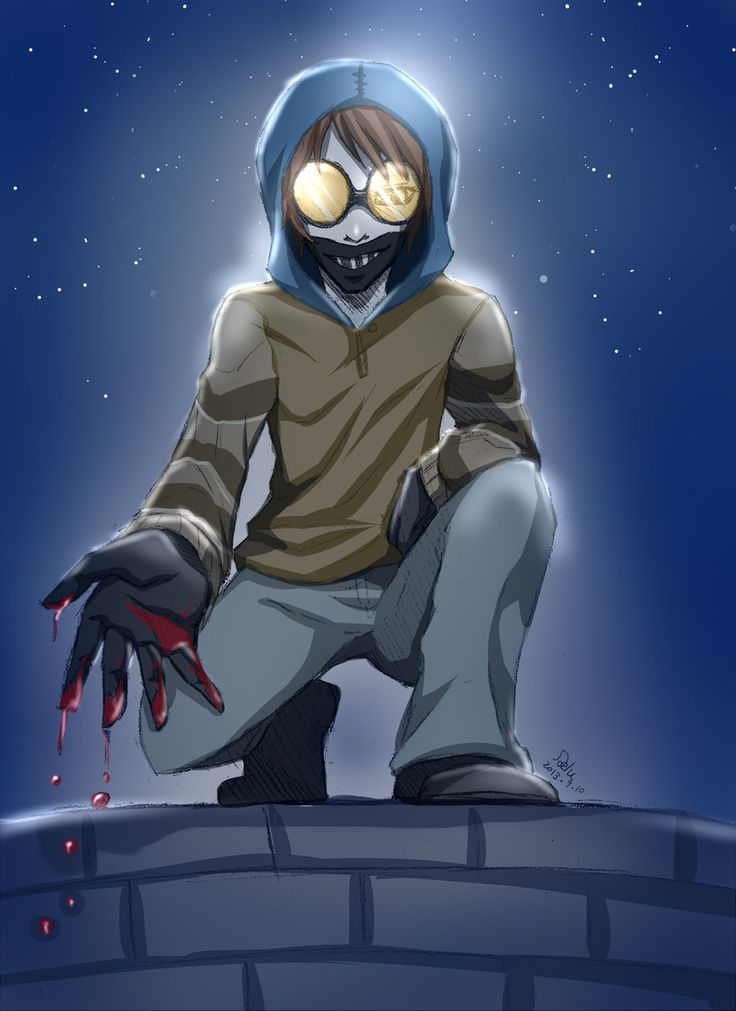 (Creepypasta Ticci-Toby) Ticci Toby is a Very Cool Creepypasta... he will stick by you No matter Who far you are