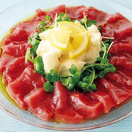 まぐろと長いものレモンカルパッチョ   秋元薫さんの料理レシピ   プロの簡単料理レシピはレタスクラブニュース