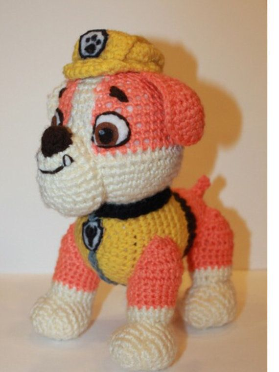 7 patterns to make 7 Paw patrol characters: Marshal, Chase, Skye, Rubble, Zuma, Everest, and Rocky. Toy will be about 6-7 tall if you use yarn weight #4 (worsted) and hook 3,25-4 mm. To make bigger toy crochet with double yarn and hook 4,5-4,75mm. If you would like to buy only one pattern (2,50$), please let me know I will make custom listing for you.   Paw Patrol free patterns  Zuma http://www.stranamam.ru/post/11018616/ Everest http://www.stranamam.ru&#x2F...