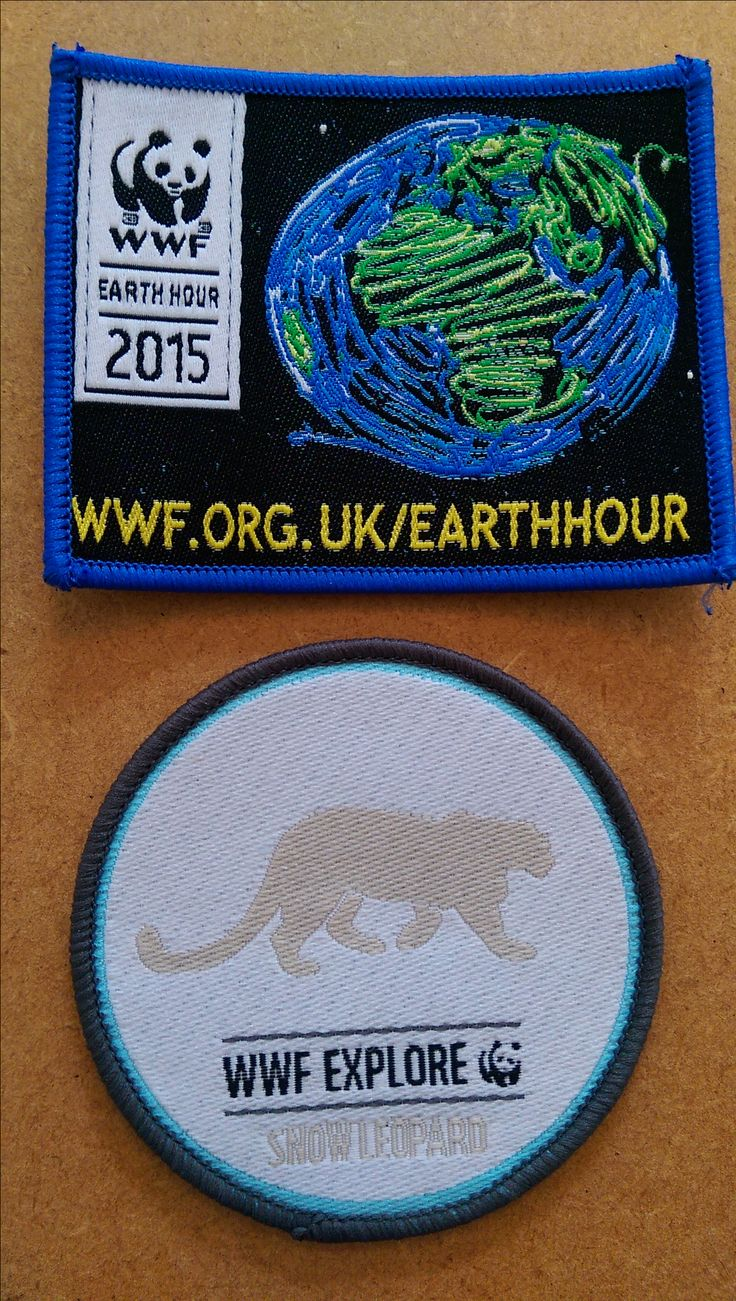 Some WWF Badges made on site here in Banbridge