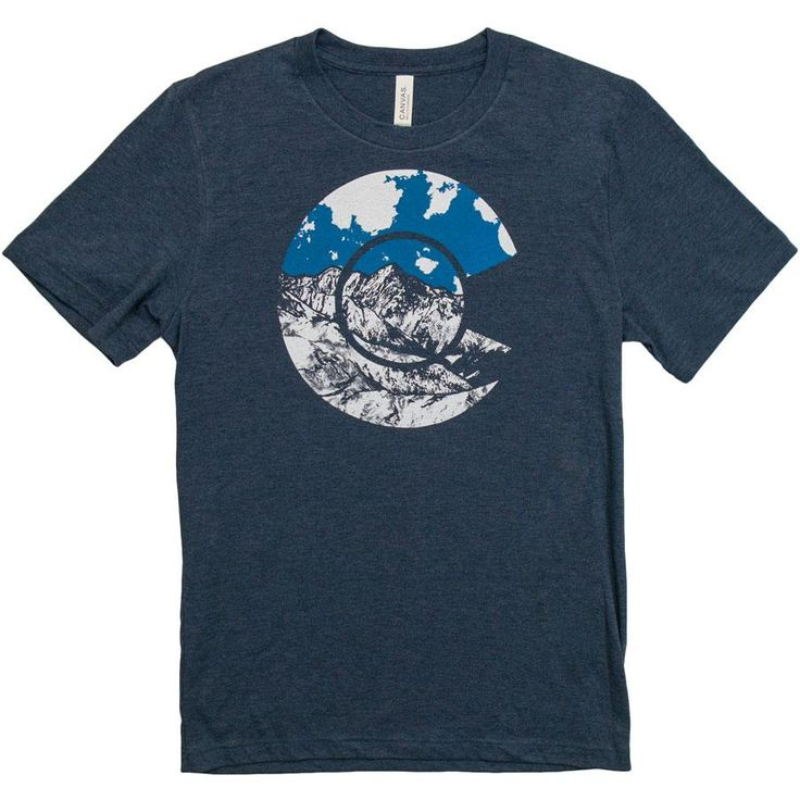 Wandering Ink Men's Colorado Mountain T-shirt (Heather Navy) @ http://www.iheartdenverstore.com
