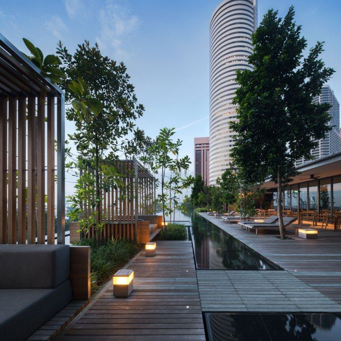 Oue Downtown Landscape Design By Shma I The Residence Roof Landscape Landscape Architecture Design Rooftop Design