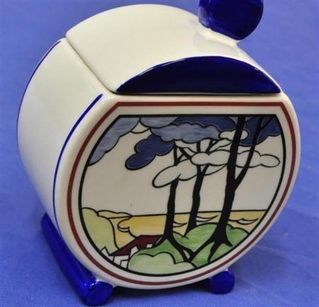 Wedgwood Clarice Cliff 'Bizarre' sugar bowl