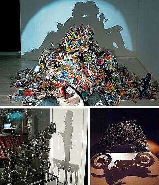 Projects Made From Junk | Fascinating shadow sculptures made from trash - Promoting Eco Friendly ...