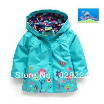 Детская одежда немецкий оригинал один Topolino мелких грызунов осень новорожденных девочек водонепроницаемый ветровка куртка