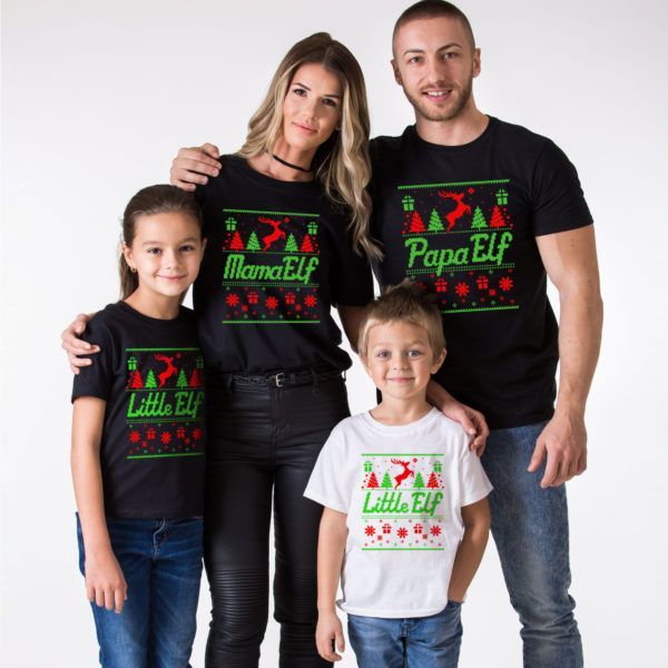 Christmas family shirts, Elf shirts, Elf shirt, Mama Elf, Papa Elf, Little Elf, Baby Elf, Elf family shirts, Christmas elf shirts, UNISEX
