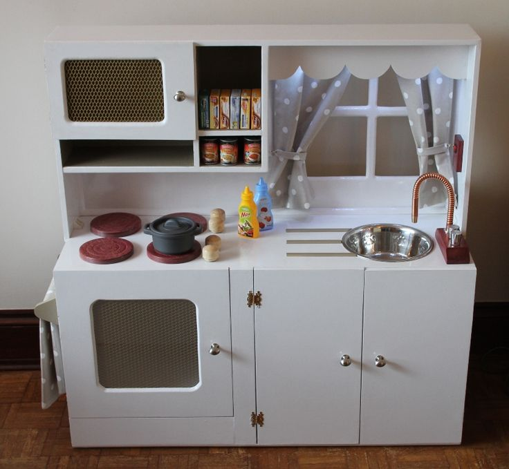 kitchen play concept in children kids toy white wooden natural set and brand childrens s