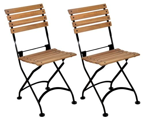 Furniture Designhouse European Cafe Folding Side Chairs   Set Of 2   Commercial  Patio Furniture At