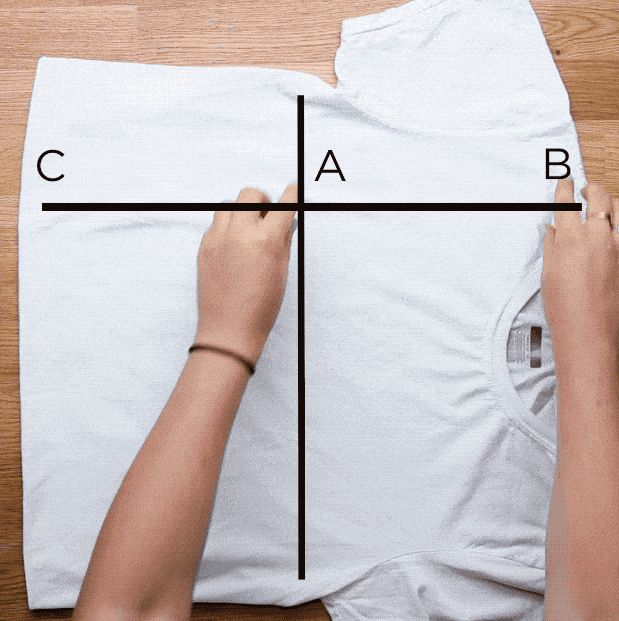 Pinch, twist, and flip your t-shirt to quickly get the perfect fold every time.