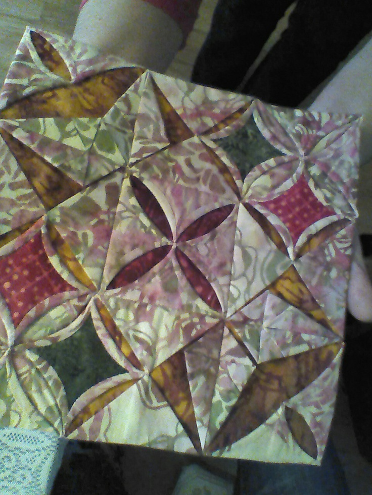 instructions for cathedral window quilt block