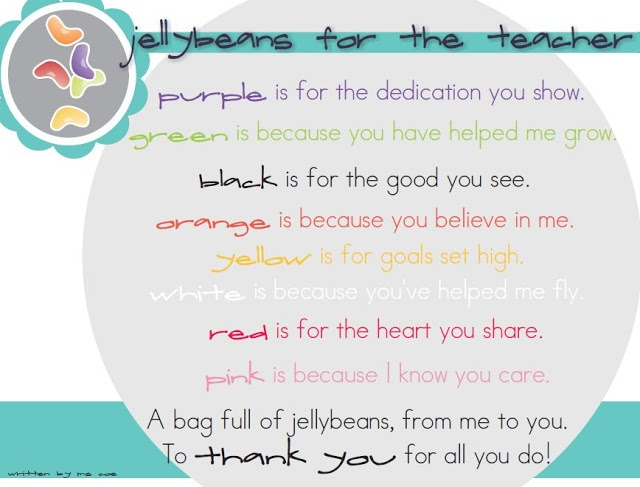 138 best gifts for teachers images on pinterest gift ideas the jelly bean prayer negle Image collections