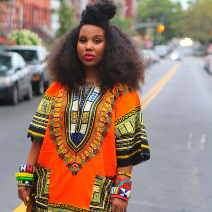 Traditional African Dashiki Shirt Orange - $16.70 & free shipping worldwide