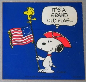 Image result for snoopy american flag