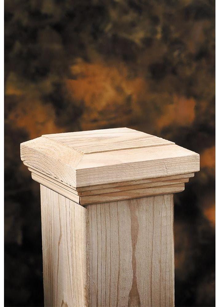 6x6 Wood Flat Fancy Post Cap Fencing Top Outdoor Garden Deck Square 6 Pack Brown 90489282547 Ebay Post Cap Fence Post Caps Wood Post