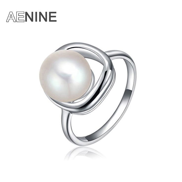 New Trendy Jewelry Luxury Simulated Pearl Ring with White Gold Plated Rings For Women Bague Pour Femme 2010587070