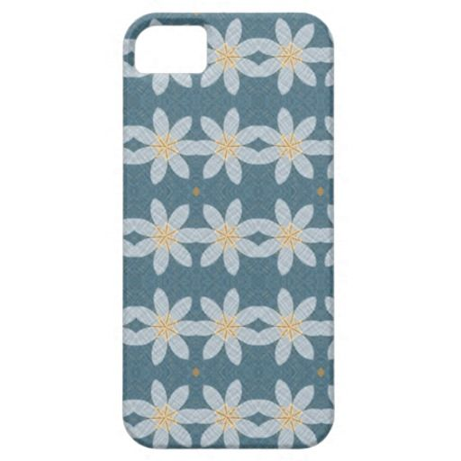 White flower pattern iPhone 5/5S cases