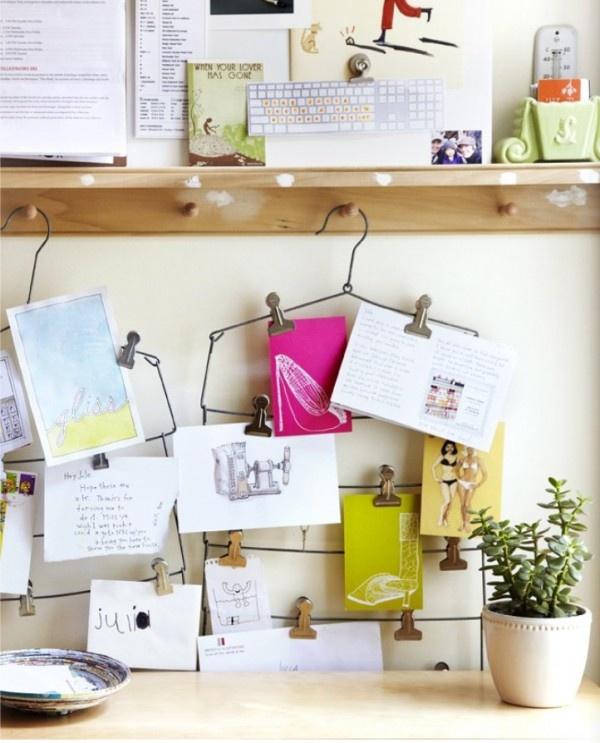 DIY hanger card holder / clip
