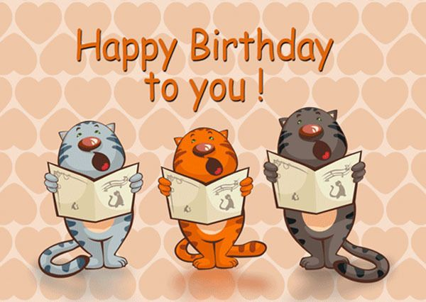 3 95 3d Motion Lenticular Postcard Cats Singing Happy Birthday To You Greeting Card Ebay C Happy Birthday Cat Happy Birthday Images Happy Birthday Funny