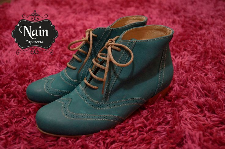 #botin #verde #shoes #lether #100% #chile #zapatos #botines #nain #zapateria #oxford #cuero