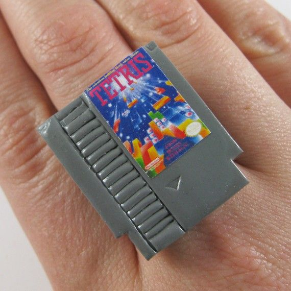 Super cool! NES Game Adjustable Ring  Game of your Choice by rapscalliondesign, $16.00