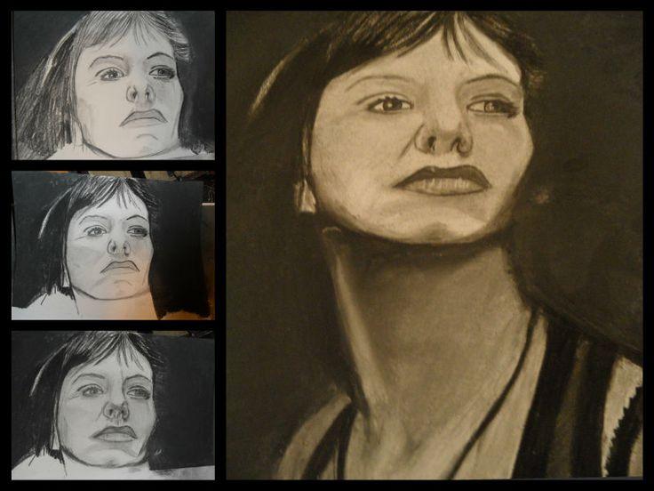 A4 Charcoal drawing. SOA Tara Knowles Teller. (Maggie Siff)