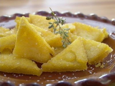 Polenta fritta (fried mush)