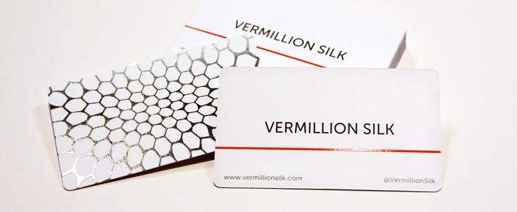 Vermillion Silk. Premium silk business card printer.