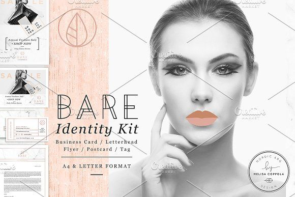 Bare Fashion Stationery Kit by Nordic.Arg on @creativemarket