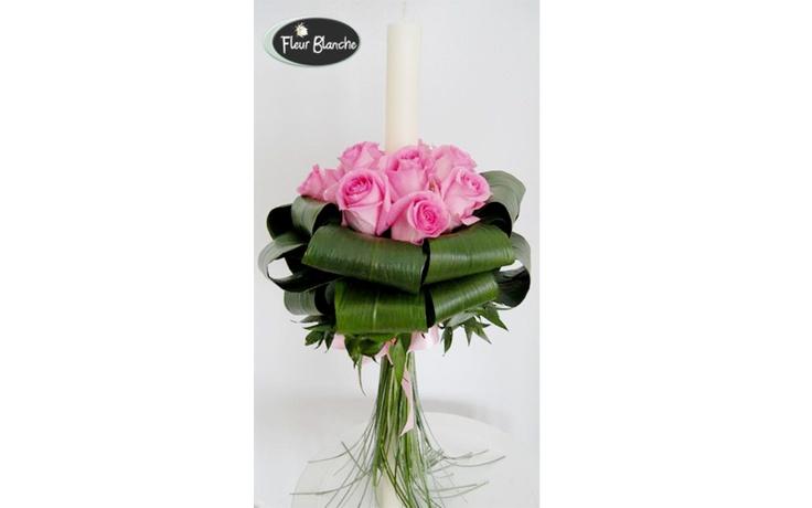 L'amour en rose - pentru cea mai frumoasa nunta http://www.florariafleurblanche.ro/produs/lumanare-de-nunta-lamour-en-rose