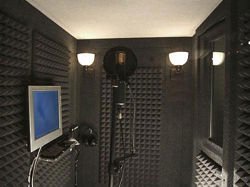 Sound Isolation Booth w/ Monitor, keyboard, mic, lighting headphones
