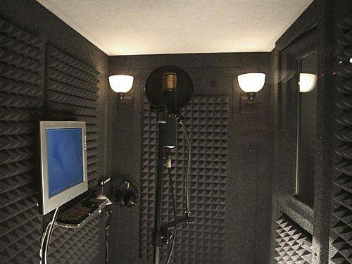 Sound Isolation Booth w/ Monitor, keyboard, mic, lighting headphones