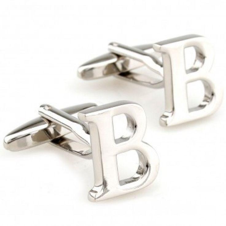 letter b initial cufflinks cufflinkspalace