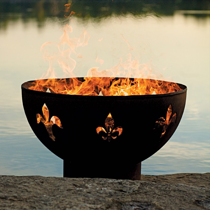 Good Fire Pit Art Fleur De Lis   Handcrafted Carbon Steel Fire Pit (FDL) The  Fluer De Lis Outdoor Fire Pit Is A High Quality, Hand Cut And Crafted Fire  Pit ...