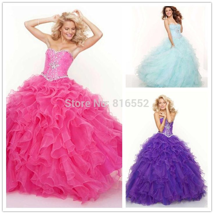 Find More Quinceanera Dresses Information about In Stock Organza Ruffled Quinceanera Dresses 2016 For 15 Years New Arrival With Ball Gown Beads Lace Up Size 2 4 6 8 10 12 14 16,High Quality gown silk,China organza evening gown Suppliers, Cheap organza gift bags wholesale from Julia wedding dress co., LTD on Aliexpress.com