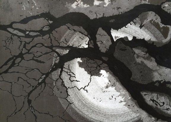"Christine Weir  Amazon No.1, 2013 Graphite on paper 18 x 24"" Retail Price: $2,000 Courtesy of the Artist"