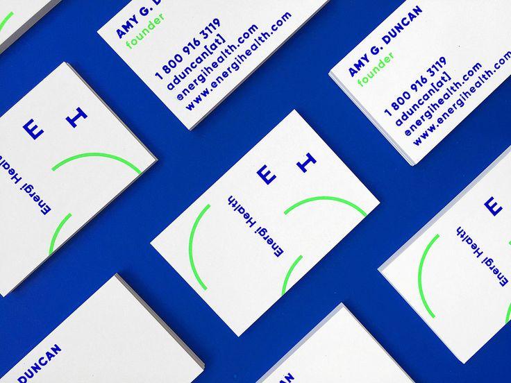 Minimal brand identity for Energi Health designed by Oddds  Read more: http://mindsparklemag.com/design/energi-health-branding/  More news: Like Mindsparkle Mag on Facebook